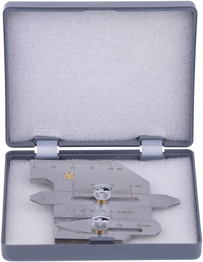 Medidor de soldadura HJC-40 Calibre de Filete de Soldadura Calibrador de Acero Inoxidable para Inspección de Superficies y Juntas Soldadas