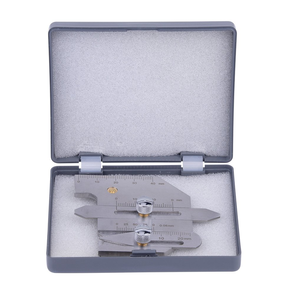 Stainless Steel HJC-40 Welding Gauge Fillet Gage Undercut Gauge for Inspection of Welded Surfaces and Joints Walfront RLSB4958