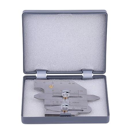 Medidor de soldadura HJC-40 Calibre de Filete de Soldadura Calibrador de Acero Inoxidable para
