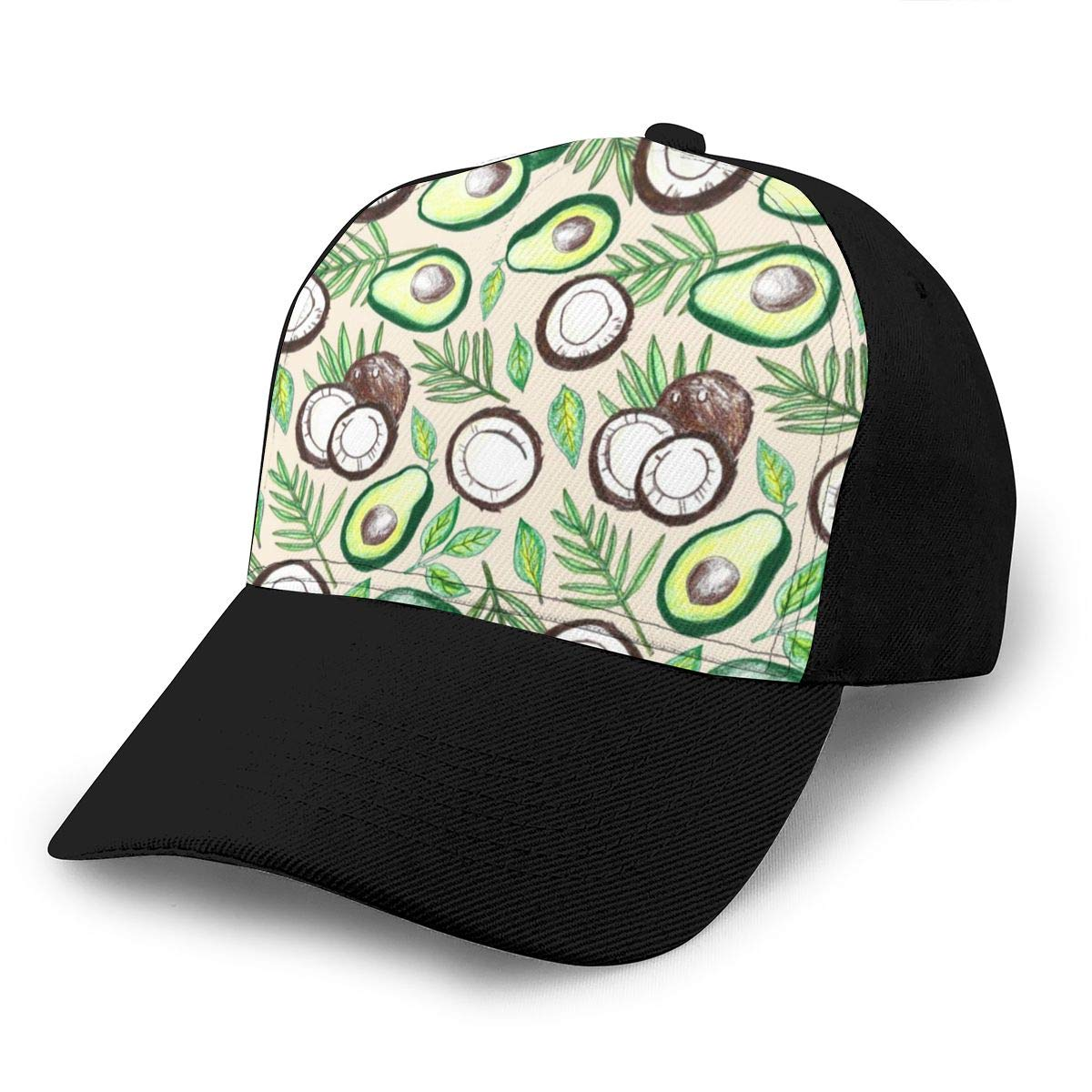 Classic Comfortable Coconuts /& Avocados Adjustable Baseball Cap