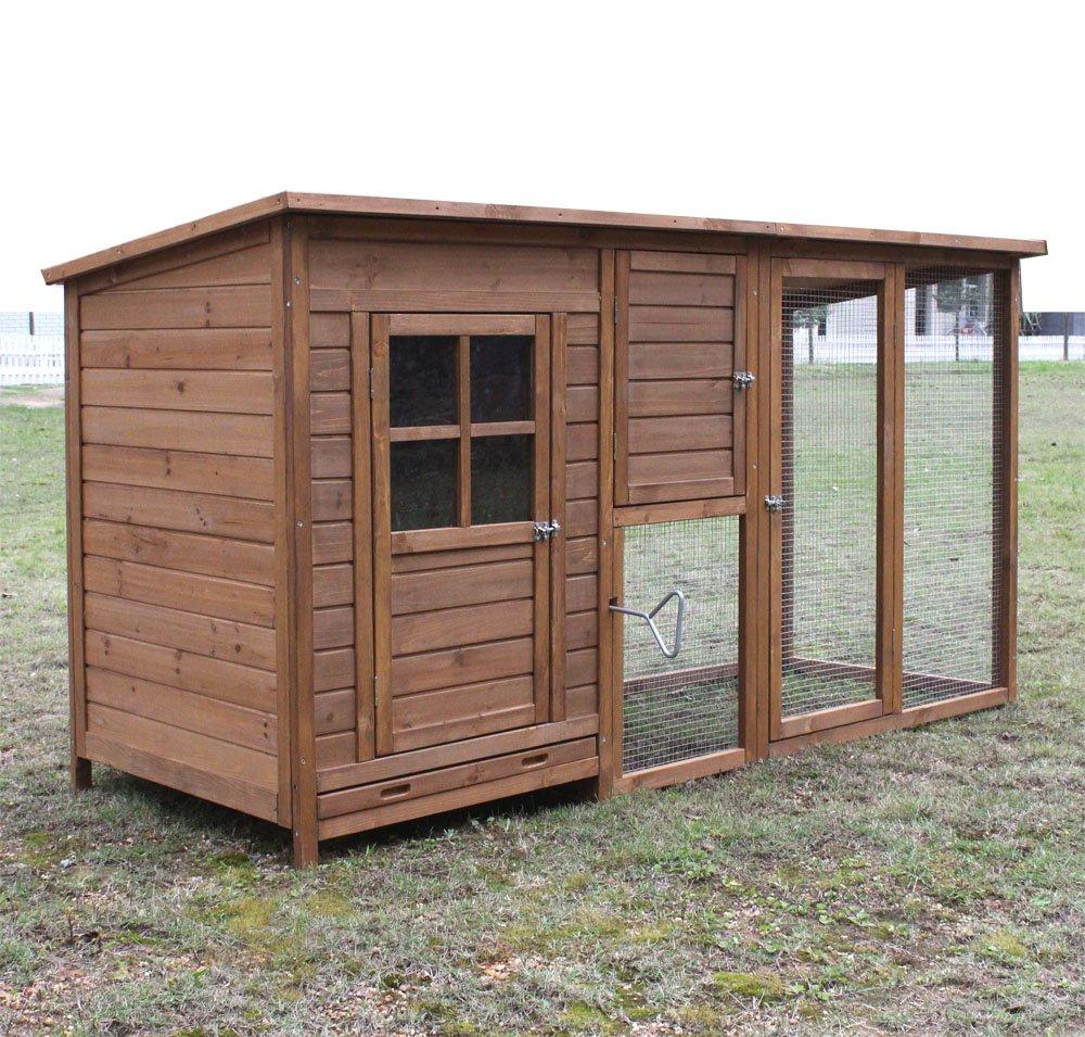 Hühnerstall Hühnerhaus Chickenhouse Nr. 07 Gockelstolz mit Eierbox und Freilauf