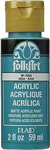 FolkArt Acrylic Paint in Assorted Colors (2 oz), 481, Aqua