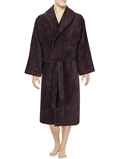 1a77c42ace7f Armani International Mystique Bruno Robes Slippers Stripe Velour Medium  Chestnut-Black