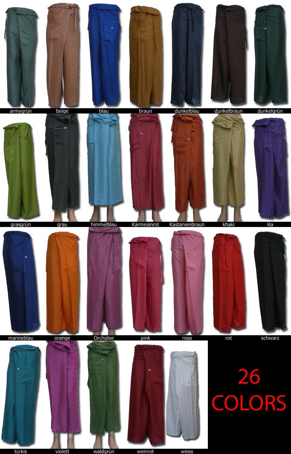 * Hierba Verde Fisherpant Pescador Pantalones * Pantalones de Yoga Envoltura Deporte Tailandia Thai Largo