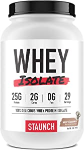 Staunch Whey Isolate (Hot Chokkie) 2 LBS - Premium, High Quality Chocolate Flavored Whey Protein Isolate