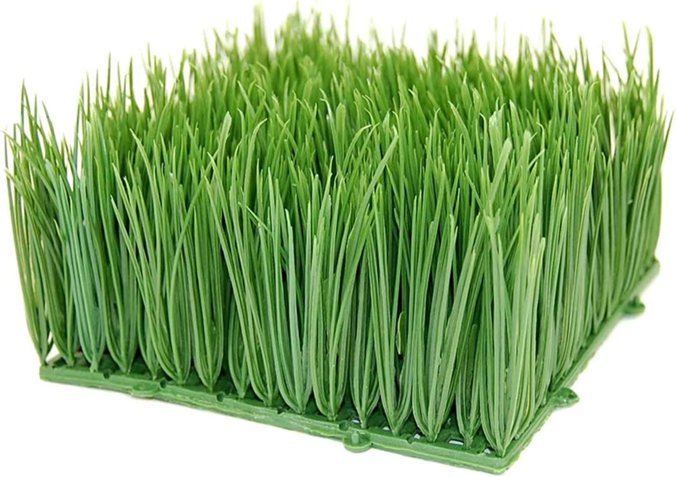 "Handy Pantry Large Artificial Wheat Grass | Artificial Wheatgrass for Home Decor, Office Decor, Kitchen Decor | Fake Plants for Decoration, Faux Wheat Grass (12""x 12""x 4"")"