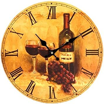 orologio da parete design vino rosso per cucina o salotto nuovo