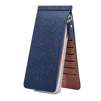 Hrph Monedero bolsa de dinero tarjeta Carteras de moda simple color sólido de cuero ultradelgada cartera hombres y mujeres cremallera: Amazon.es: Deportes y ...