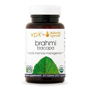 Amazon Com Organic Brahmi 60 Herbal Tablets 500 Mg Ea