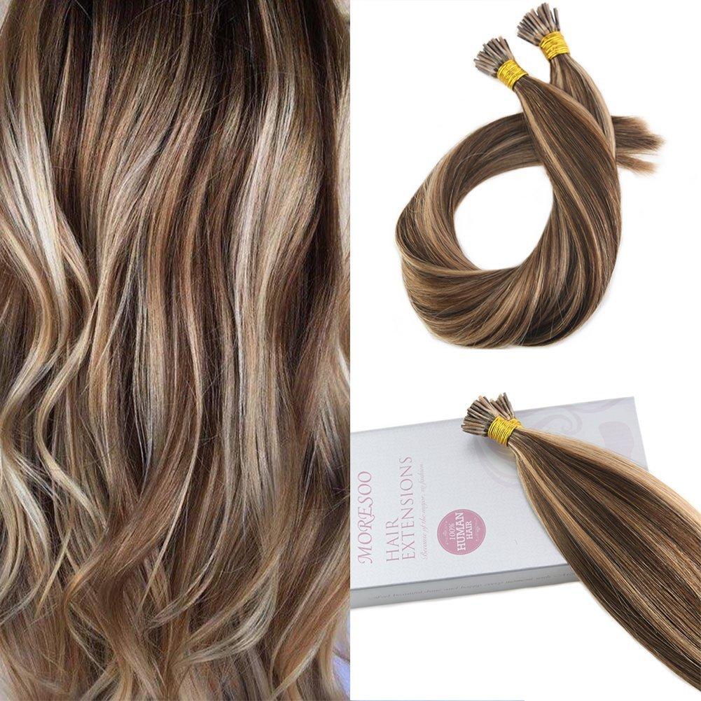Amazon Googoo Highlighted Prebonded Hair Extensions Chocolate