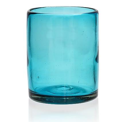 Vaso Tumbler Artesanal – Vidrio Reciclado – Turquesa - Un Solo Vaso