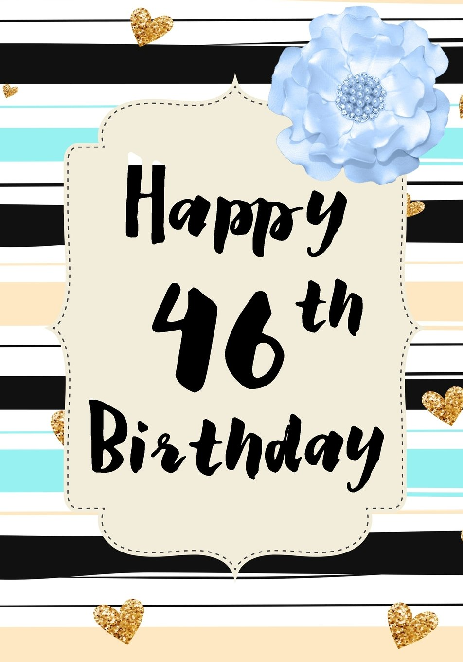 Read Online Happy 46th Birthday: Birthday Memory Book, Birthday Journal Notebook For 46 Year Old For Journaling & Doodling, 7 x 10, (Birthday Keepsake Book) PDF