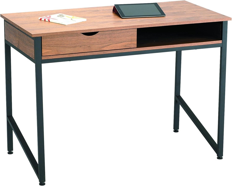 Safco Products Studio Single Drawer Desk, Black