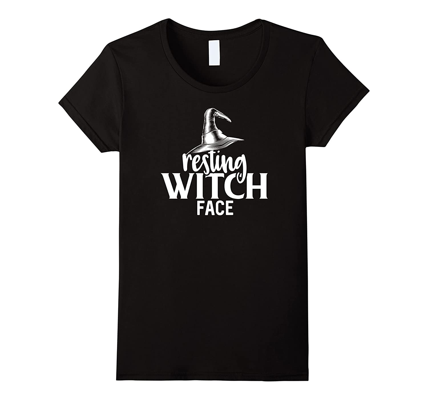 Womens Resting Witch Face T Shirt Halloween Witches Candy Costume-T-Shirt