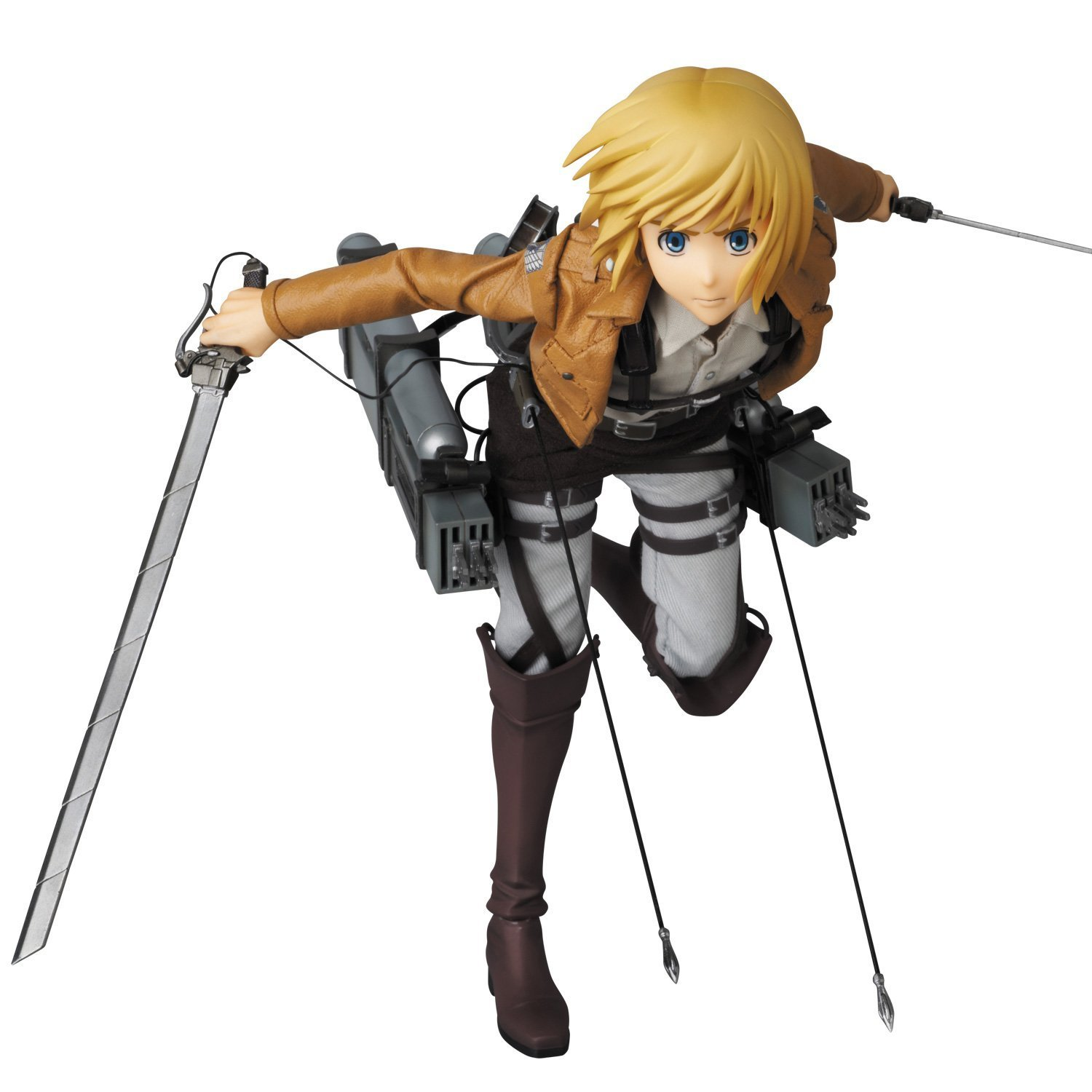 1 FREE Official Japanese Trading Card Bundle RAH# 676 Medicom First Production Version : ~11.8 x Real Action Heroes Figure Series Attack on Titan Armin Arlert