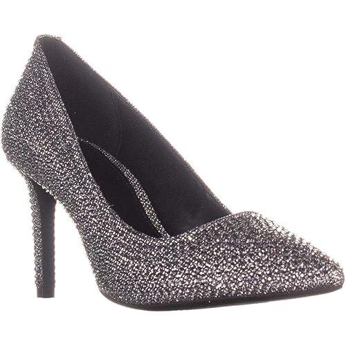 af973caea3e Michael Kors Women s Court Shoes Black Silver  Amazon.co.uk  Shoes ...