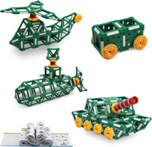 225 Piece STEM Educational Toys Kit, Kids Construction Engineering Building Blocks Set,Child Fun Learning Set for Ages 3 4 5 6 7 8 9 10 Year Old Boys by Brickyard