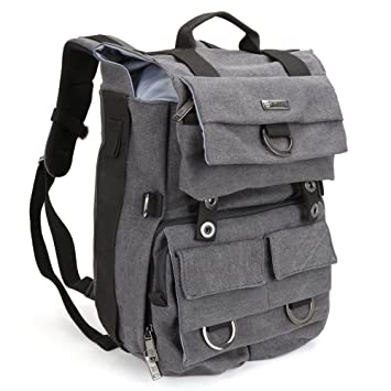 Amazon.com : Evecase Large Canvas DSLR Camera Backpack w/Rain ...