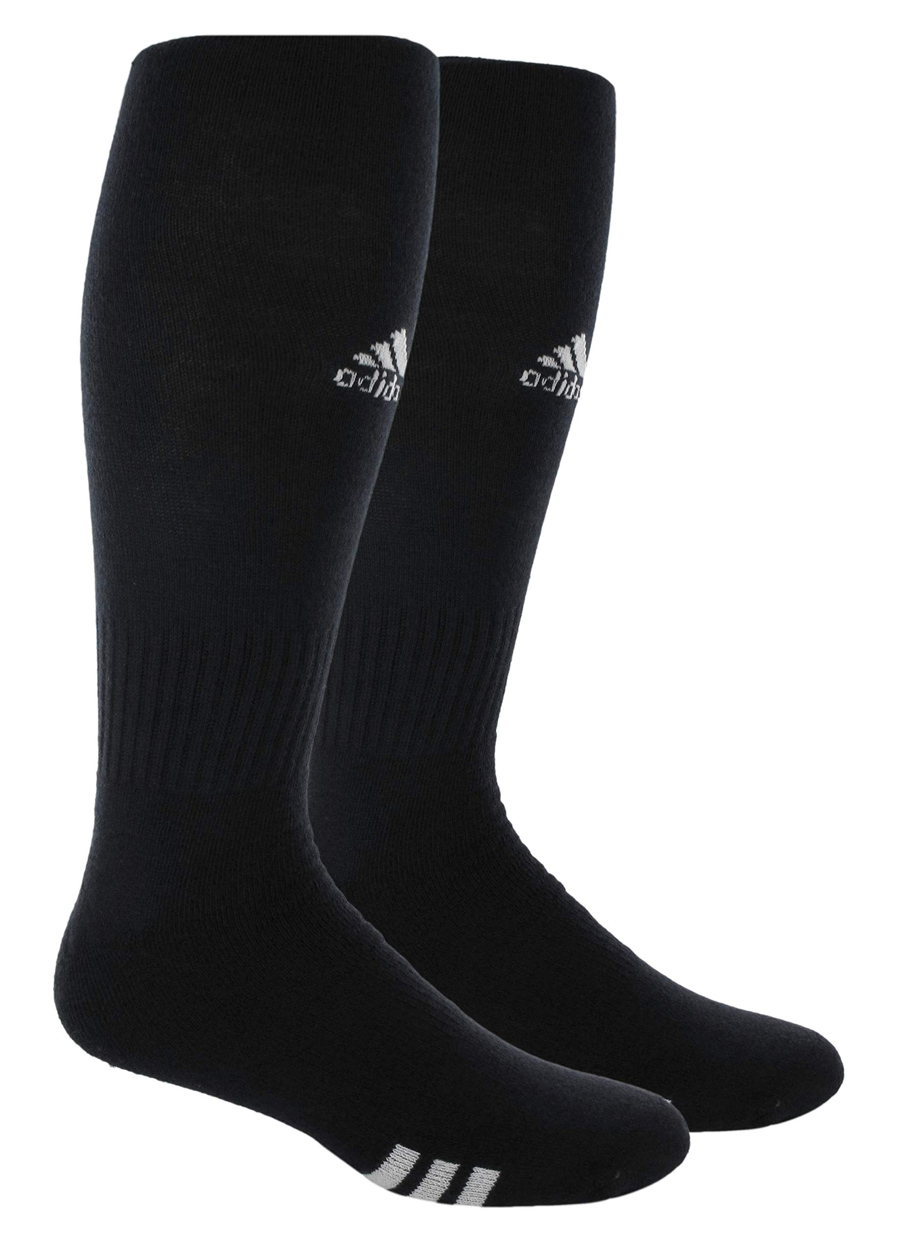 adidas Unisex Rivalry Field OTC Sock (2-Pair), Black/White, 9C-1Y by adidas