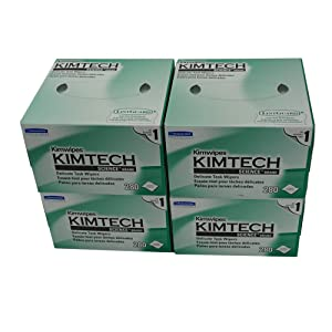 iSonic Kimberly-Clark Professional Kimtech Science KimWipes Delicate Task Wipers, 4.4 x 8.4 in. 1-ply, 280 Sheets/Box, 4 Packs, KW01x4