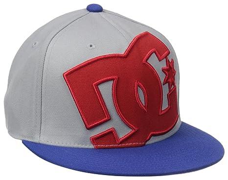 5e814f94 DC Men's Ya Heard Hat, Heather Grey/Nautical Blue Small/Medium