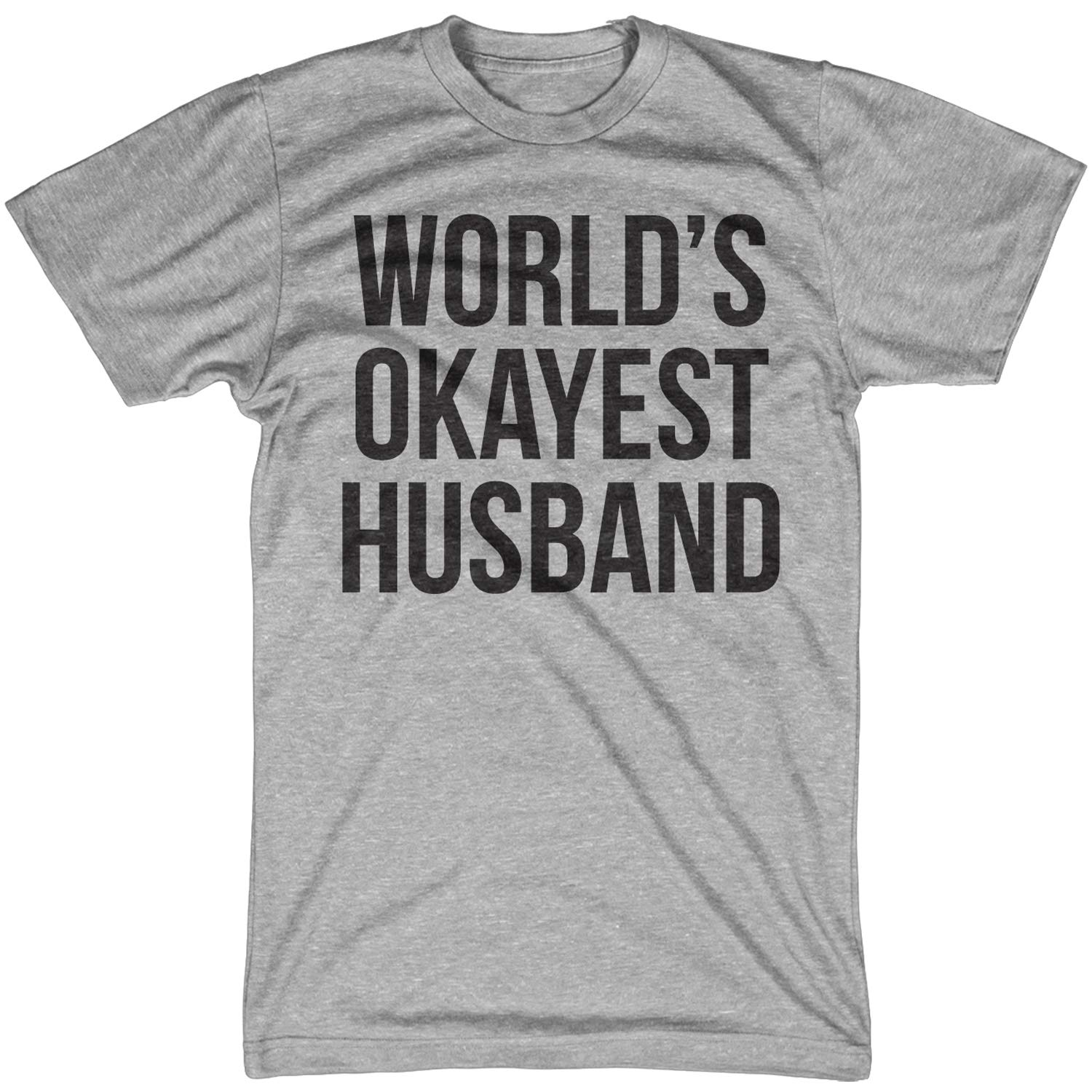 66d329719a Amazon.com: Crazy Dog T-Shirts Mens World's Okayest Husband T Shirt Funny  Hilarious Gift for Married Guys: Clothing