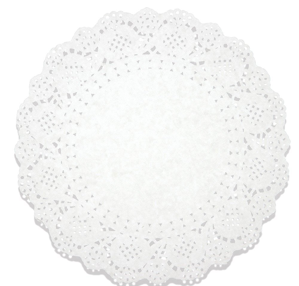 Juvale Lace Doilies Paper 250 Pack Set- Decorative Round Placemats Bulk, Table Runner, Cake Box Liners Cakes, Desserts, Baked Treat Display, Ideal Weddings, Tableware Decoration - White, 10.5 inches by Juvale (Image #1)