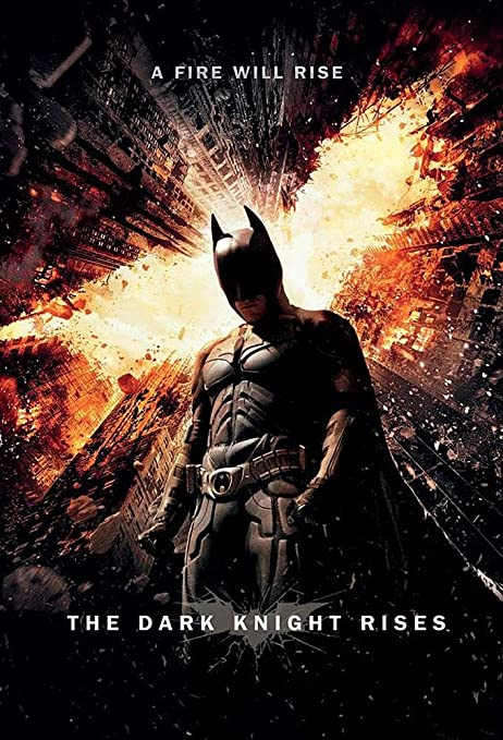 """Amazon.com: Batman: The Dark Knight Rises - Movie Poster (Regular Style / A  Fire Will Rise) (Size: 24"""" x 36""""): Posters & Prints"""