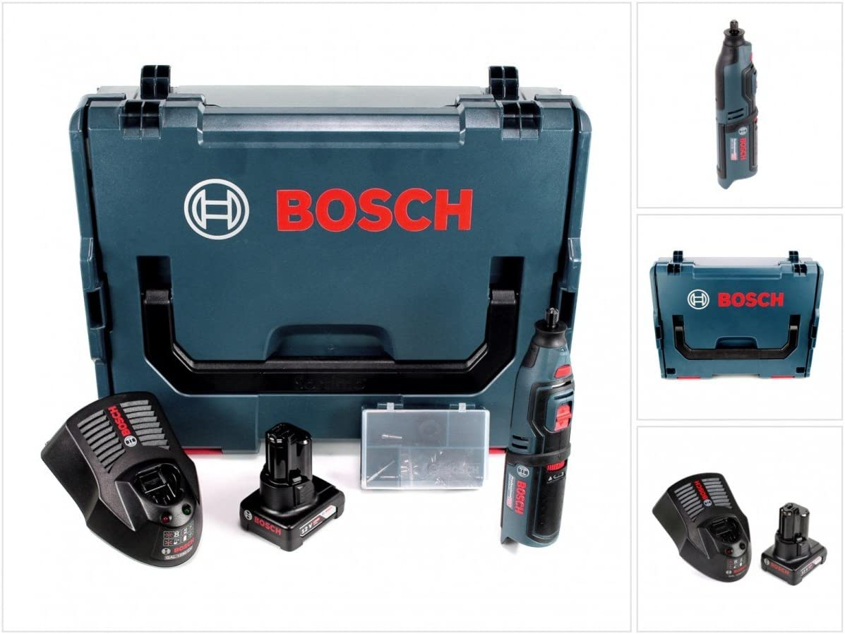Bosch GRO 12V de 35Professional batería giratorio Herramientas en L-Boxx con 1x GBA 6,0Ah Batería Y Gal 1230CV Cargador