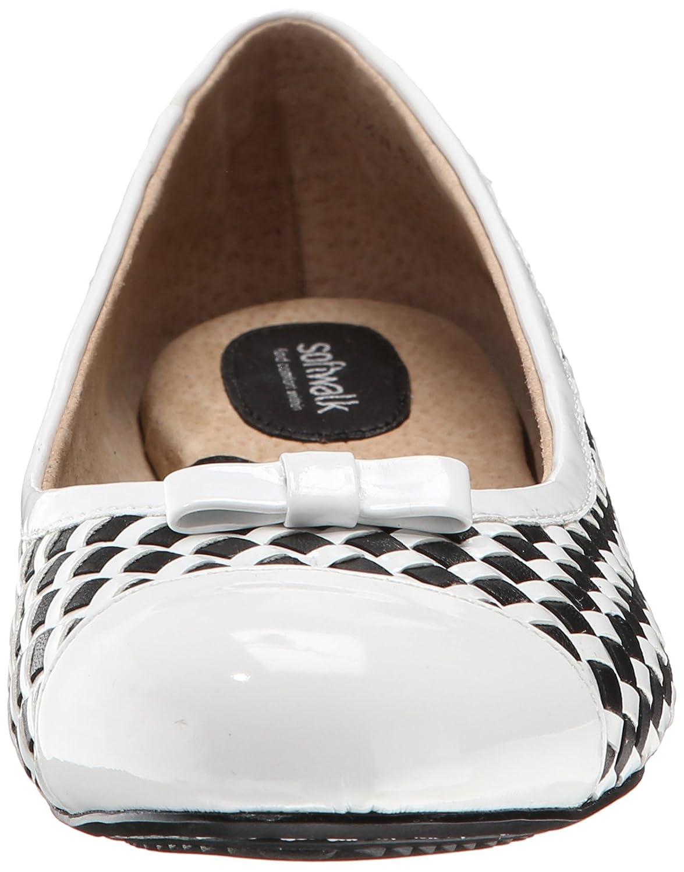 SoftWalk Women's Naperville Ballet Flat B00LMEHKVU 6 N US|Black/White