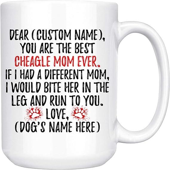 Personalized Beagle Dog Mom Mug Beagle Women Gifts Beagle Dog Mommy Mug