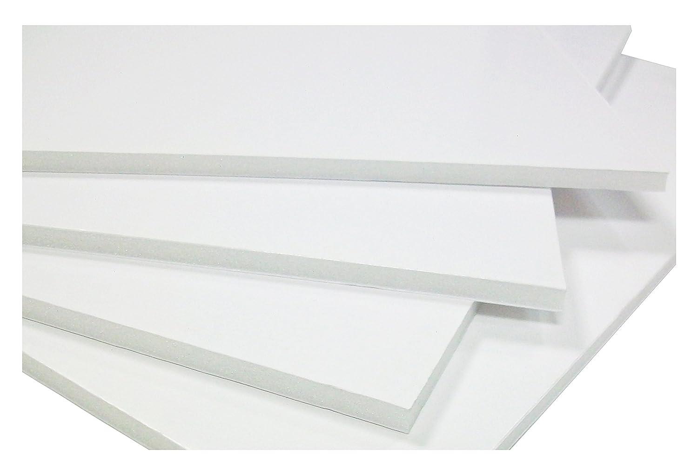 westfoam Schaumstoffplatten 10 mm Schaumbrett, A1, Weiß (Pack von 5 ...