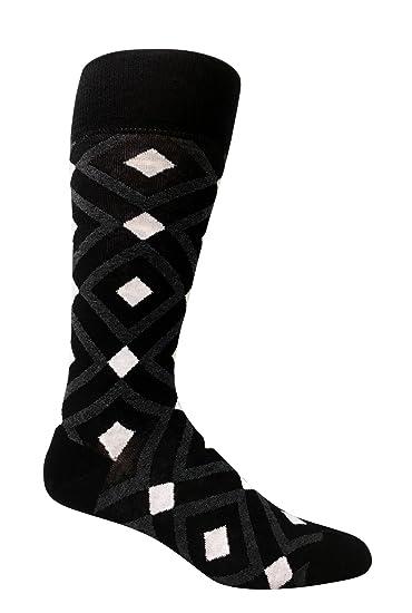 2a6143d9ed3f1 Premium Men's organic cotton dress socks black argyle design ...