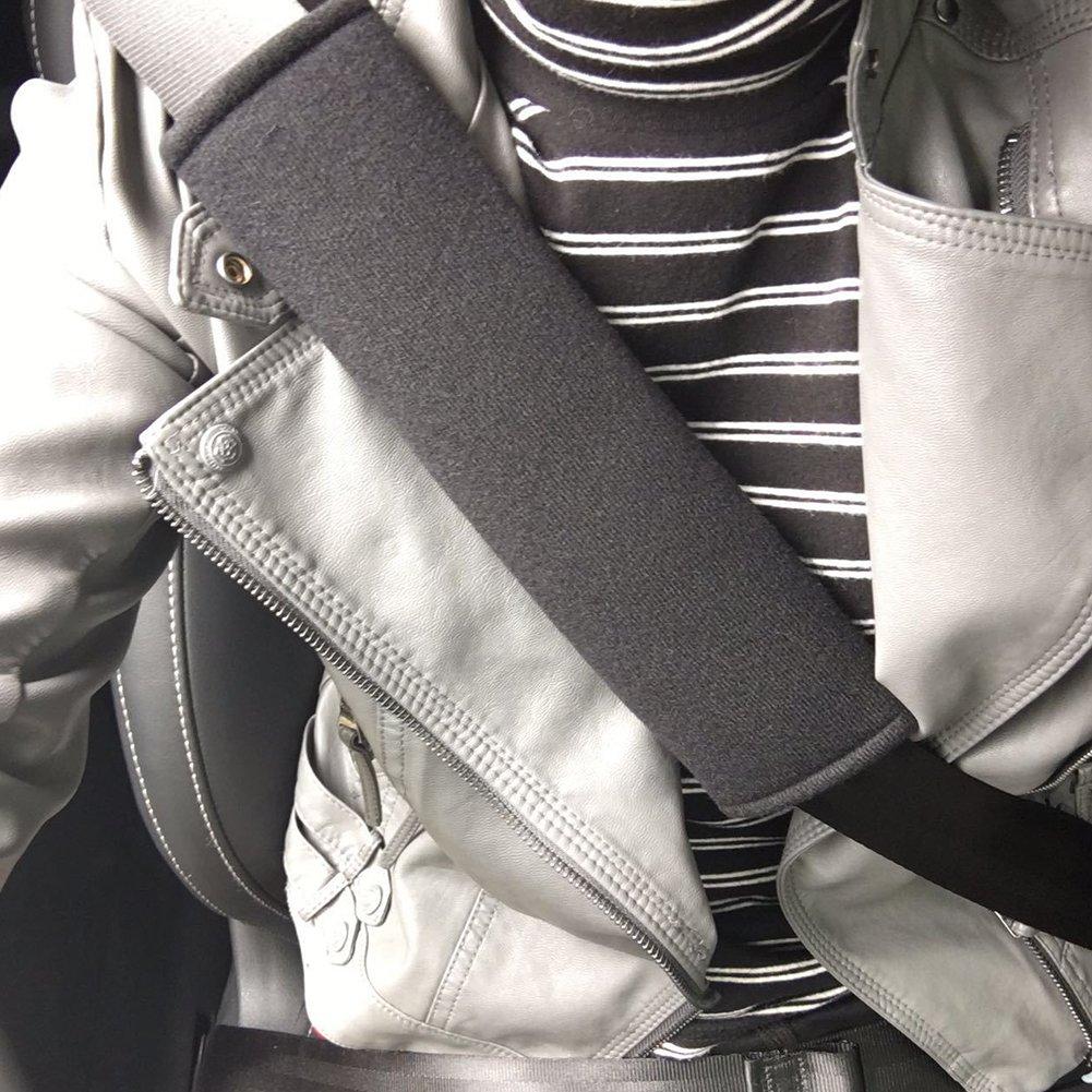 ZAK168 Autositzgurt-Bez/üge strapazierf/ähige Autositzgurt-Polster f/ür Auto Gurtschoner Schultergurt-Polster Free Size grau Reisekissen