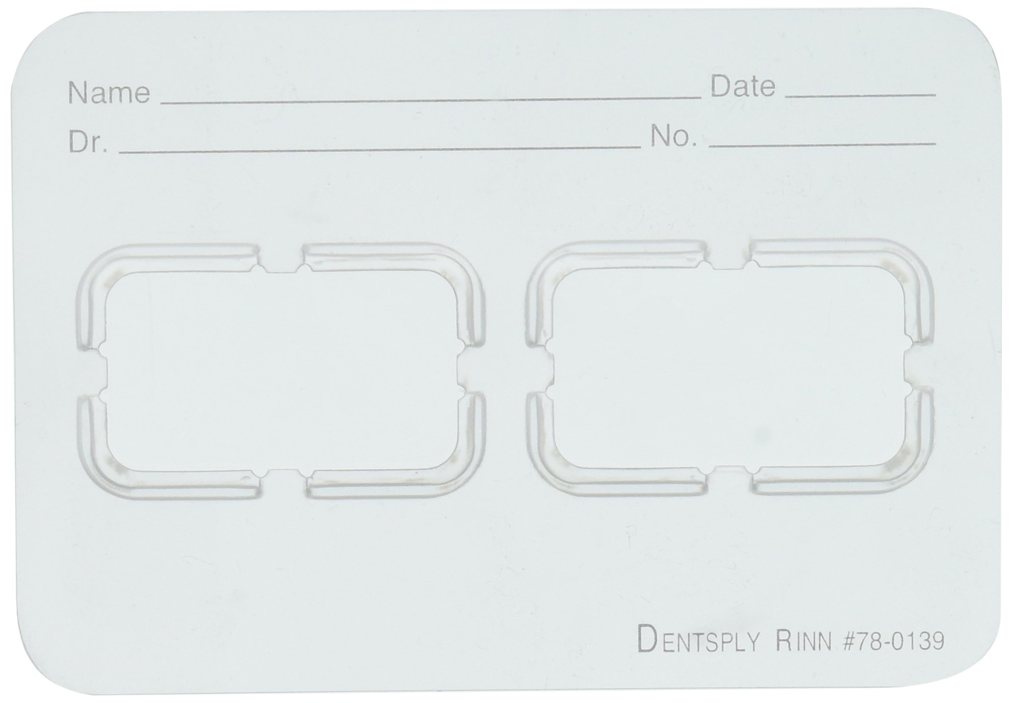 Dentsply Rinn 780139 Ez-Tab 2H #1 Film Mount, Frosted (Pack of 100)