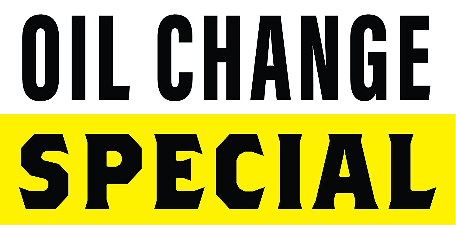 Oil Change Special >> Amazon Com Pre Printed Oil Change Special Banner Stripe Yellow