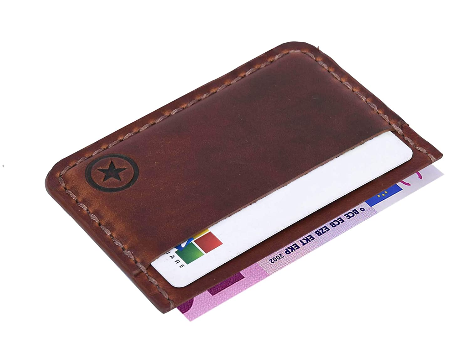 Minimalist Genuine Leather Card Holder Slim Front Pocket Wallet By Aaron Leather Goods