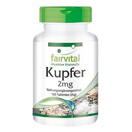Cobre 2 mg - A GRANEL durante 100 días - vegano - ALTA DOSIS - 100