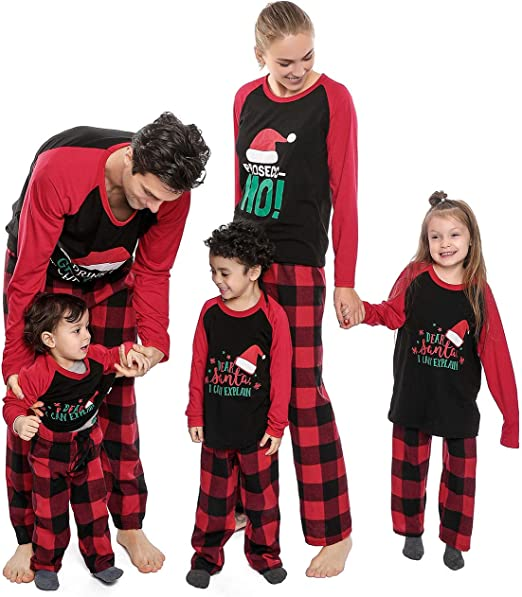 M Party Pajama Unisex Men Women Pyjama All In One Red Plaid Winter Warm Fleece