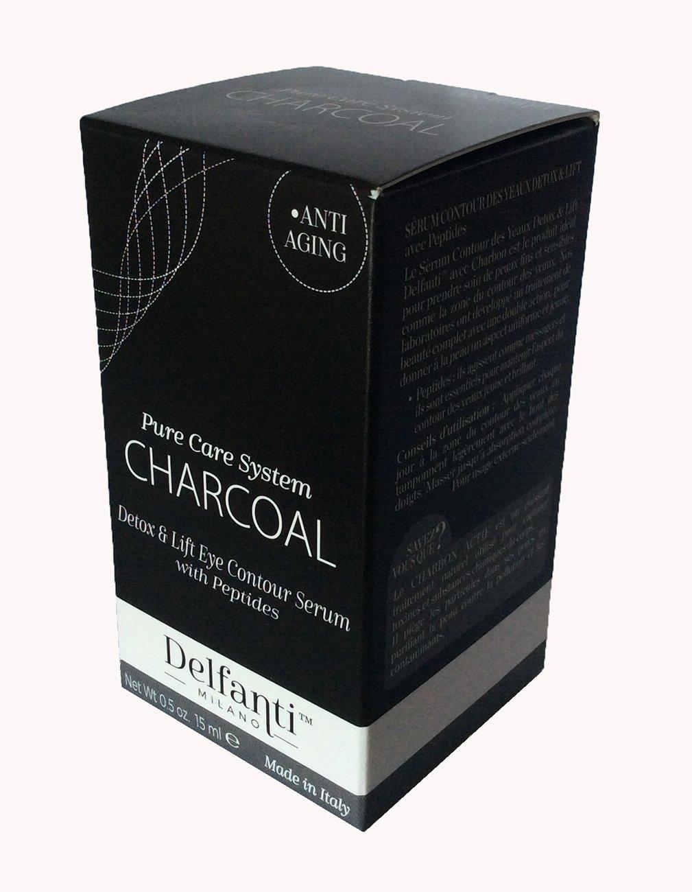 Delfanti Milano Charcoal Eye Contour Serum, 0.5 oz, Made in Italy