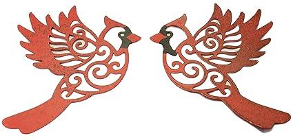 4 Inch Metal Screen Door Saver Magnet  Red Cardinal Bird   Protects Screen  Doors From