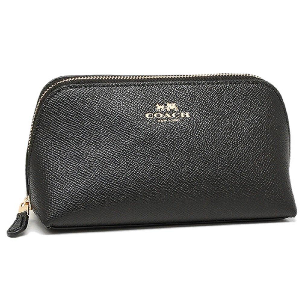 Coach Cosmetic Case Black Make Up Case F57857, Small