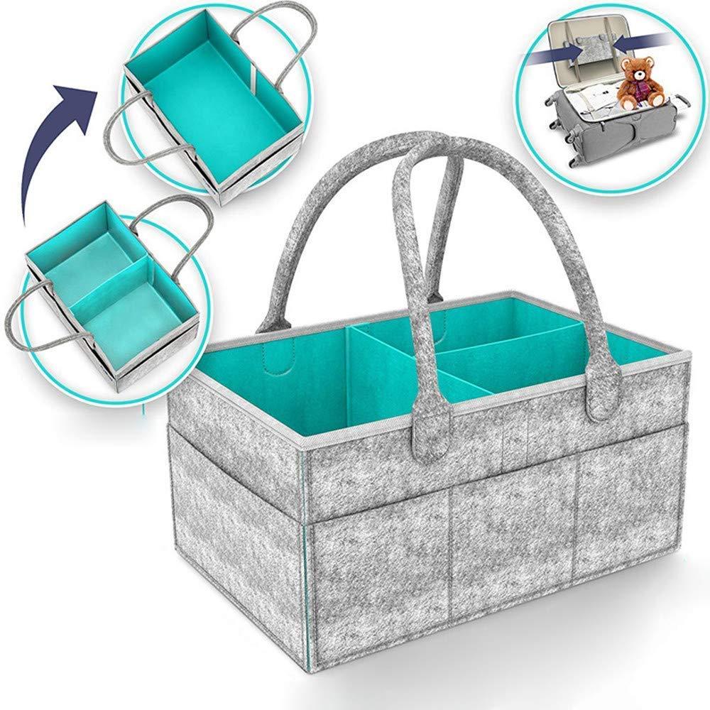 Muswanna - Organizador de pañ ales para bebé , cesta de almacenamiento para pañ ales, pañ ales de bebé , juguetes, cambiador de mesa, cambiador de pañ ales, bolsa de almacenamiento, juguete de viaje portá ti