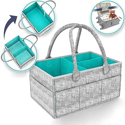 Muswanna - Organizador de pañales para bebé, cesta de almacenamiento para pañales, pañales de bebé, juguetes, ...