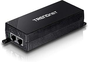 TRENDnet Gigabit Power Over Ethernet Plus Injector, Converts Non-Poe Gigabit to Poe+ or Poe Gigabit, Network Distances Up to 100 M (328 ft.), TPE-115GI