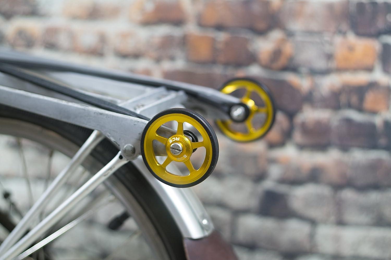 Super ligero fácil ruedas + tornillos de titanio para Brompton - en color dorado: Amazon.es: Deportes y aire libre