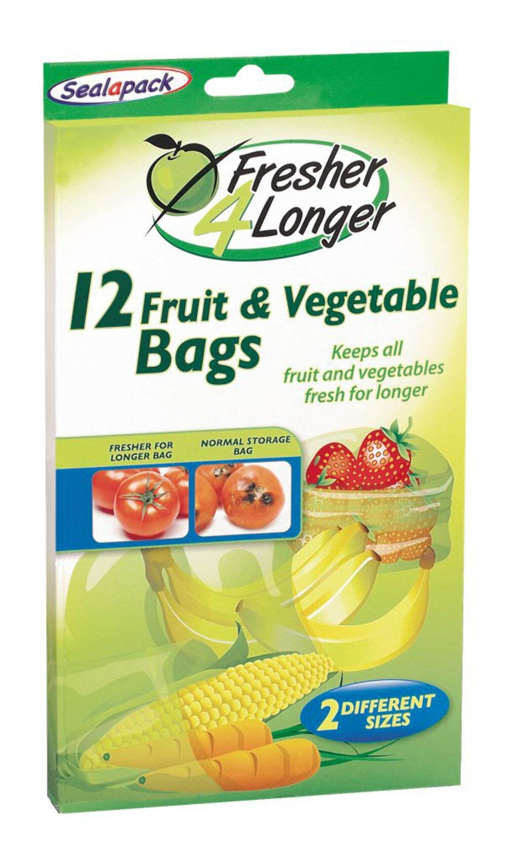 Sealapack Fresh For longer Fruit & Veg Bags 12 Pk