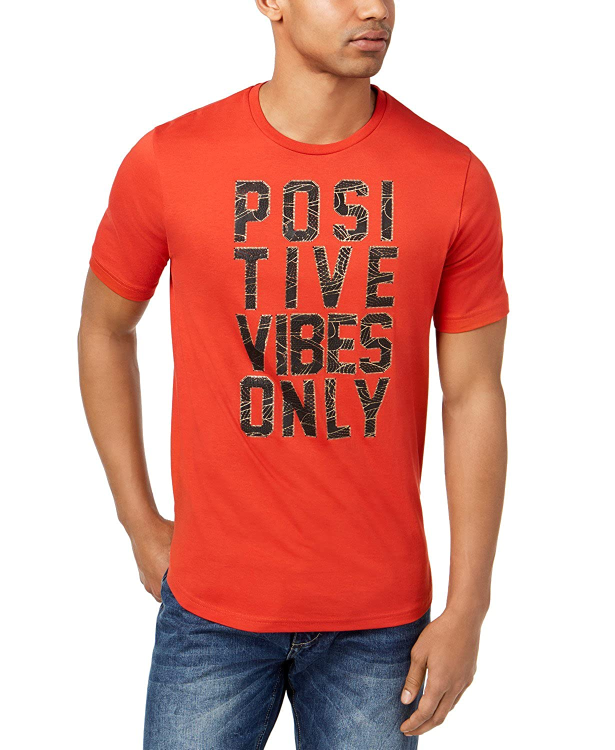 Amazon Sean John Mens Graphic Print T Shirt Positive Vibes