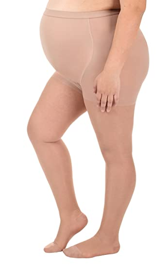 7d47291ad Image Unavailable. Image not available for. Color  Sheer Maternity  Compression Pantyhose - Medium Support 15-20mmHg ...