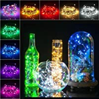 Voiks Wine Bottles String Micro Artificial Cork Copper Wire Starry Fairy, Battery Operated Lights for Bedroom, Parties, Wedding, Decoration